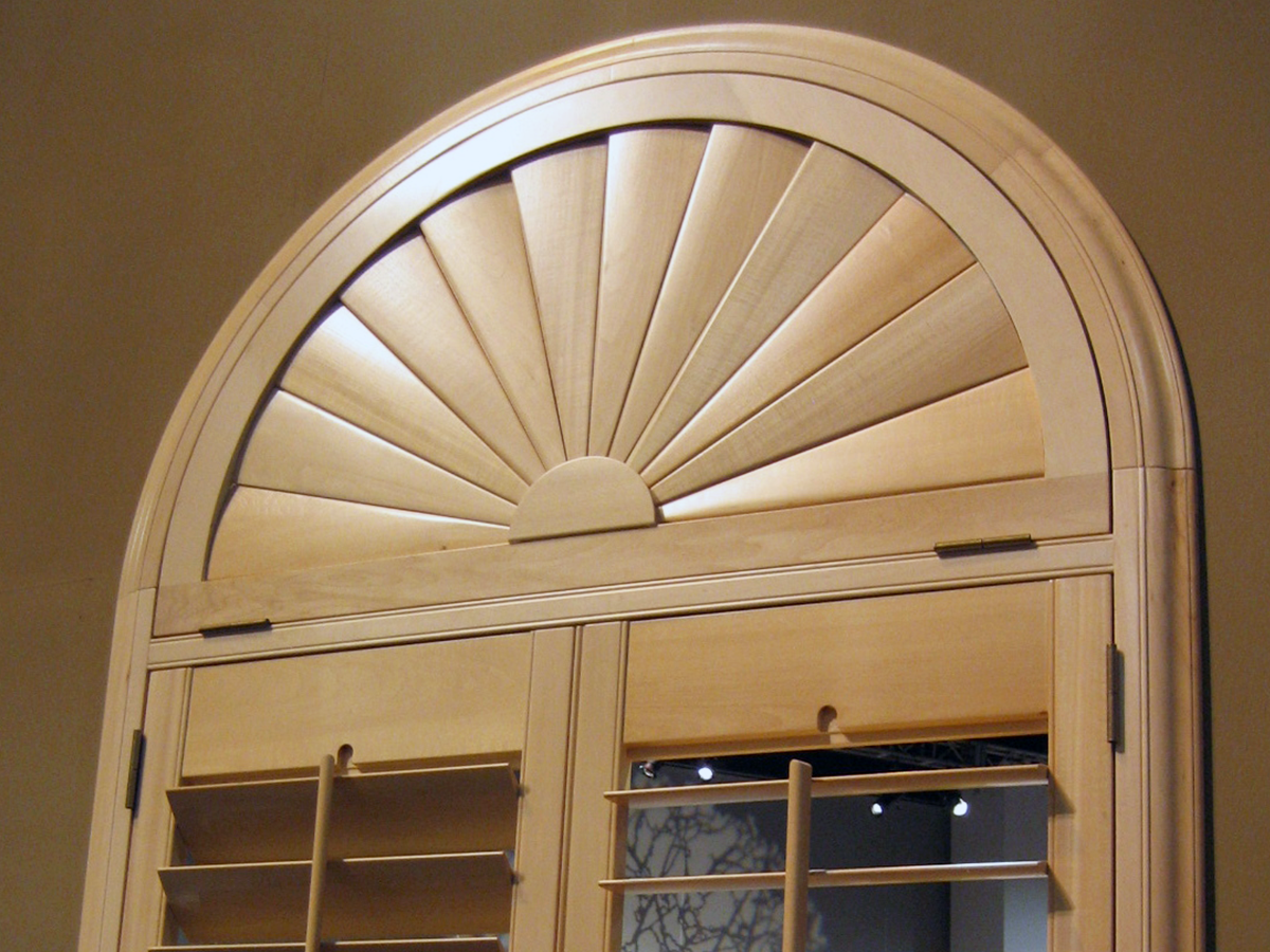Custom Shutters For Arched Window