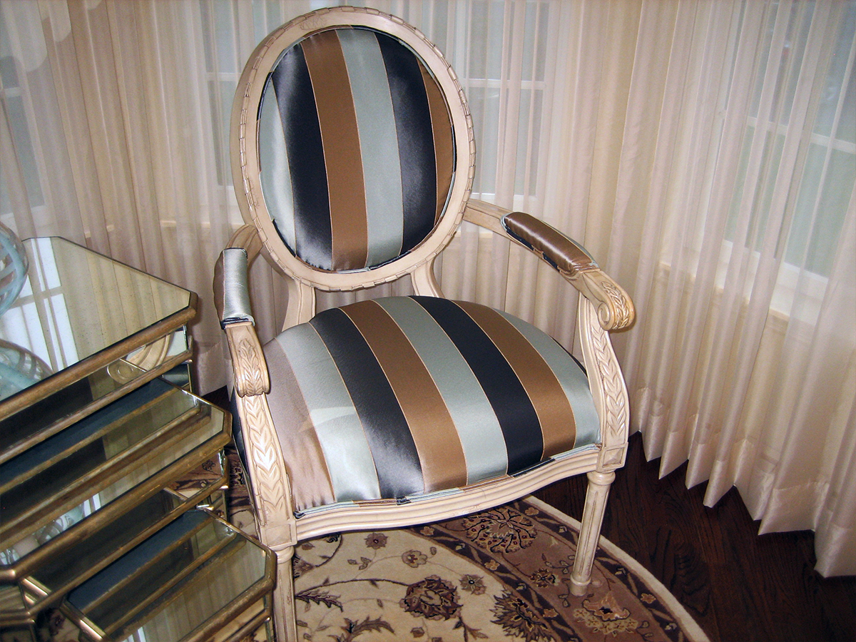 Re-Upholstered Vanity Chair