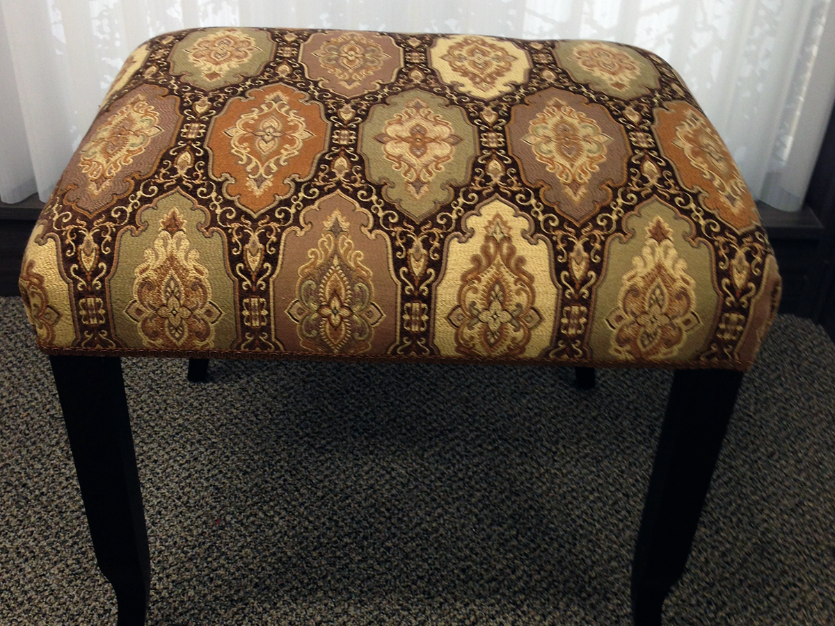 Re-Upholstered Bench