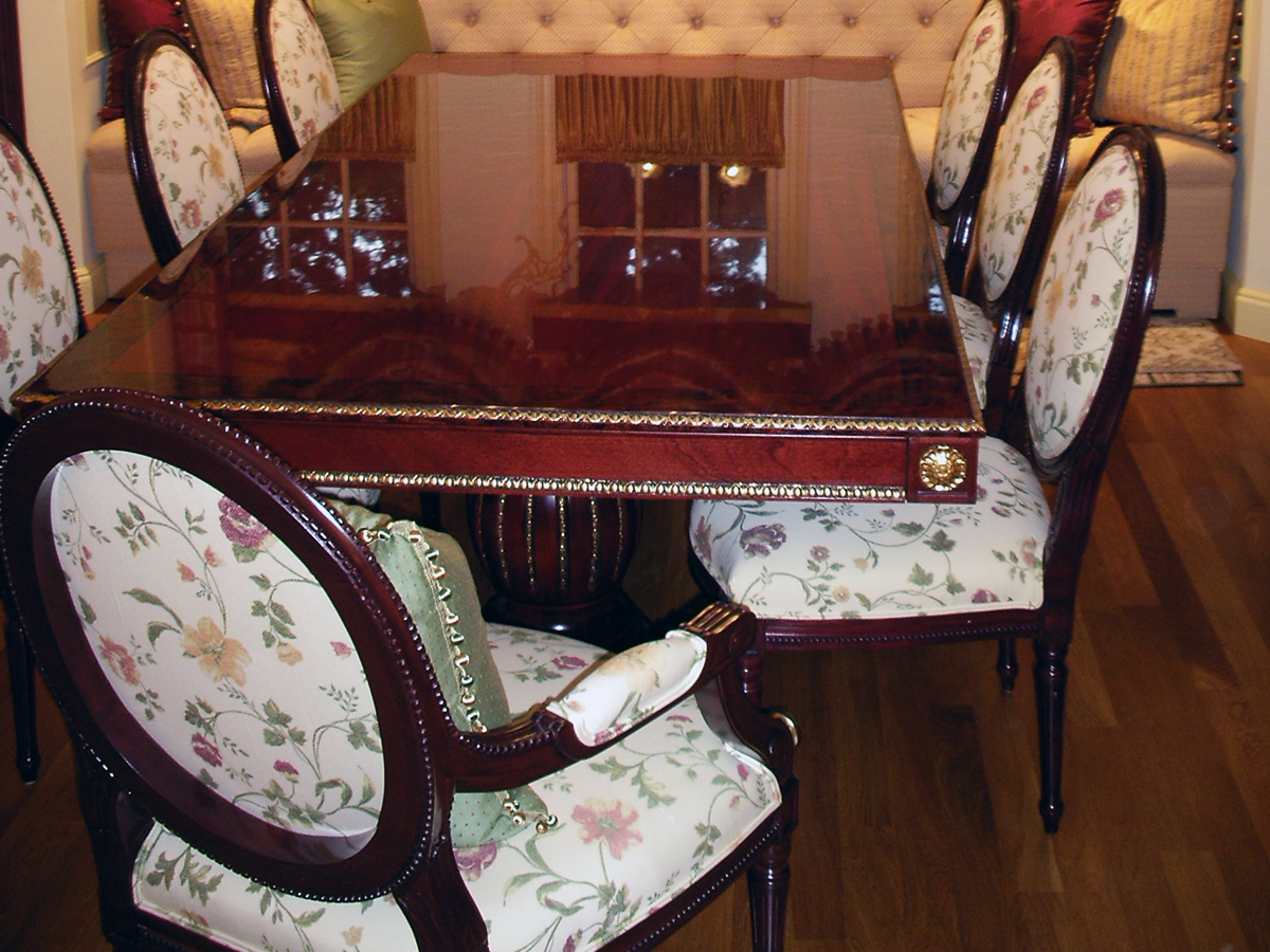 Upholstered Banquette w/ Dining Room Chairs